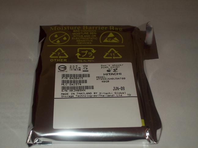 "HITACHI HTS541640J9AT00 (0A28415) 40GB 5400 RPM 8MB Cache 2.5"" ATA-6 Notebook Hard Drive"