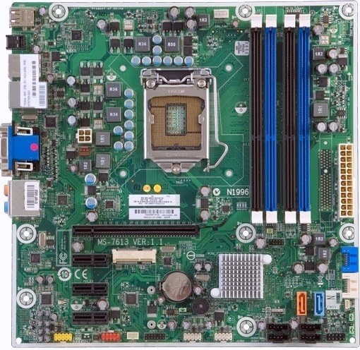HP COMPAQ 612500-001 575765-001 MS-7613 Pavilion Elite HPE-141F INTEL LGA 1156