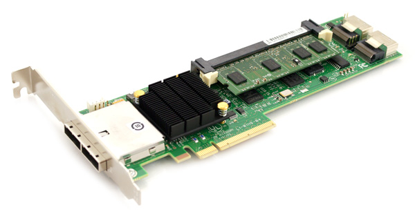 LSI Logic MegaRAID SATA/SAS SAS 8888ELP (LSI00142) 8 Port SAS 3Gb/s PCI-Express w/ 512MB memory RAID Controller Card Only