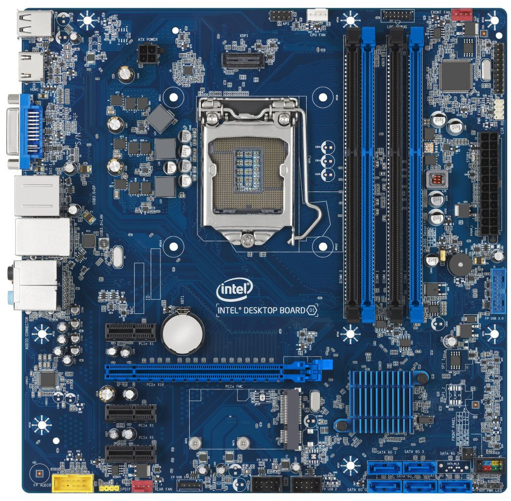 Intel BLKDB85FL Chipset-Intel B85 Socket-LGA1150 32Gb DDR3-1600MHz Dual Channel Micro-ATX Motherboard