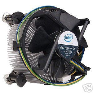 "Intel Socket 775 Copper Core/Aluminum Heat Sink & 3.5"" Fan w/4-Pin Connector up to Core 2 Duo 2.66 GHz"