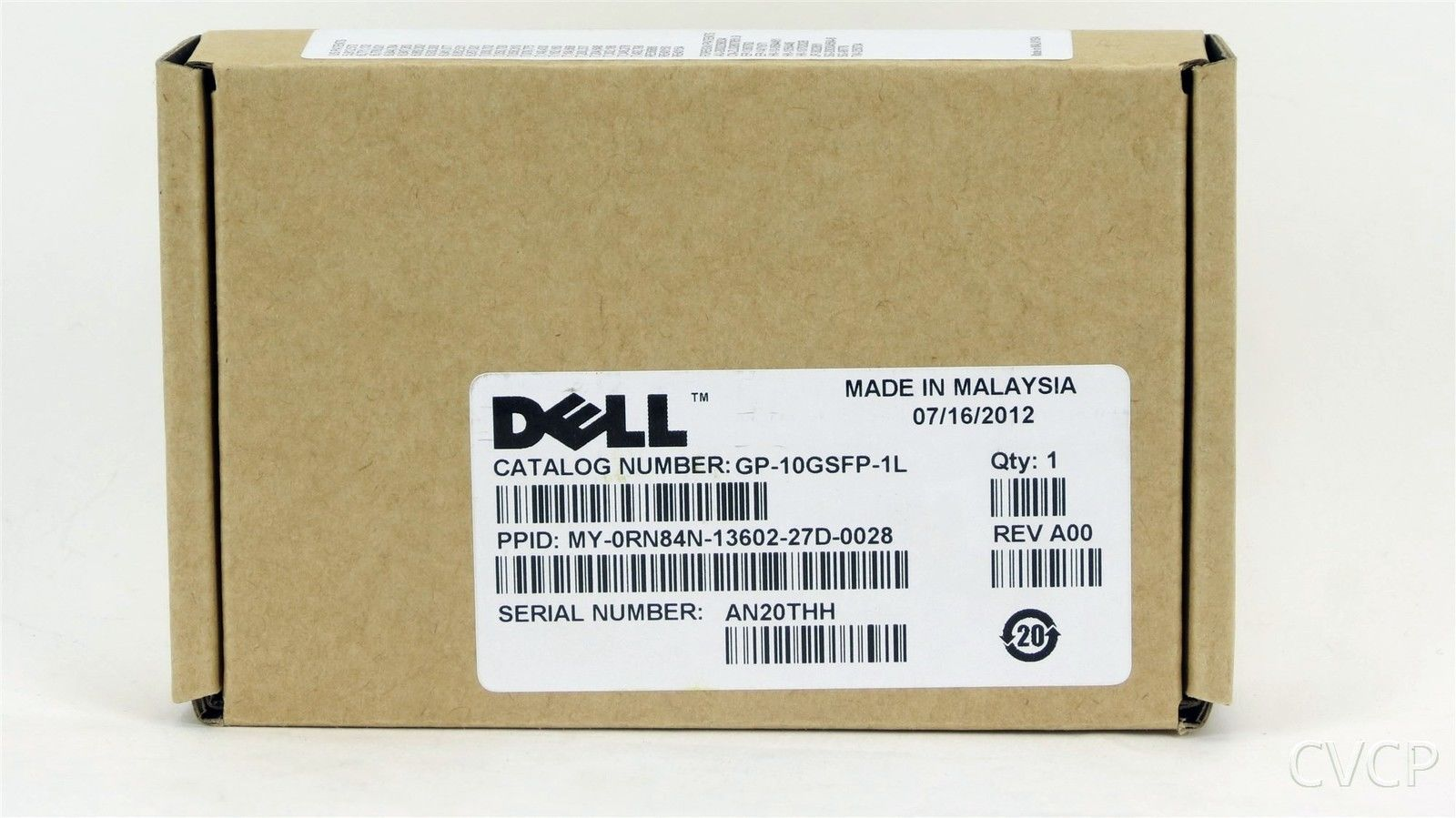 Dell RN84N GP-10GSFP-1L 10Gbps SFP GBIC Network Adapter 0RN84N FTLX1471D3BCL