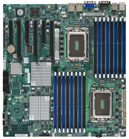 Supermicro H8DGi-F Motherboard 2-Way Opteron 6100 Socket G34 12-Core DDR3 SATA2 RAID IPMI GbE PCIe eATX Motherboard