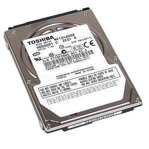 "TOSHIBA MK1246GSX 120GB 5400 RPM 8MB Cache 2.5"" SATA 3.0Gb/s Notebook Hard Drive"