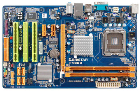 Biostar P43D3 INTEL LGA 775 P43 CHIPSET ATX Motherboard GIGABIT LAN AUDIO DDR3