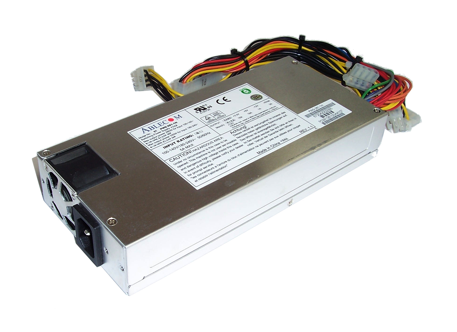 SuperMicro Ablecom PWS-281-1H 100-240V 50-60Hz 5A 280W Power Supply