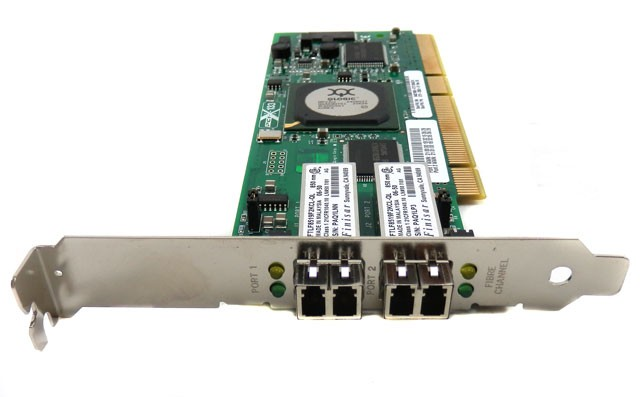 Qlogic QLA2342 64-bit 133MHz PCI-X to 2Gb Dual Fibre Channel Adapter