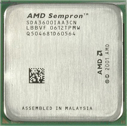 AMD Sempron 3600+ 2.0GHz Processor 1600MHz HT 256KB L2 Socket AM2 - SDA3600IAA3CN