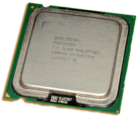 Intel Pentium 4, 3.0 Ghz, Socket 775, 1MB L2 Cache 800 FSB -HH80547PG0801MM / SL9CB Processor