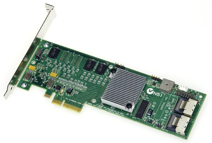 Intel SRCSASRB RAID Controller 8 Channel, SATA-300 / SAS, 300 MBps Low-Profile PCI Express x4 - Card Only