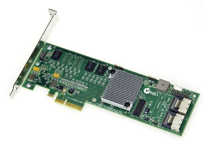 Intel SRCSATAWB ROC SATA PCI-E X4 Low Profile Raid COTROLLER Card