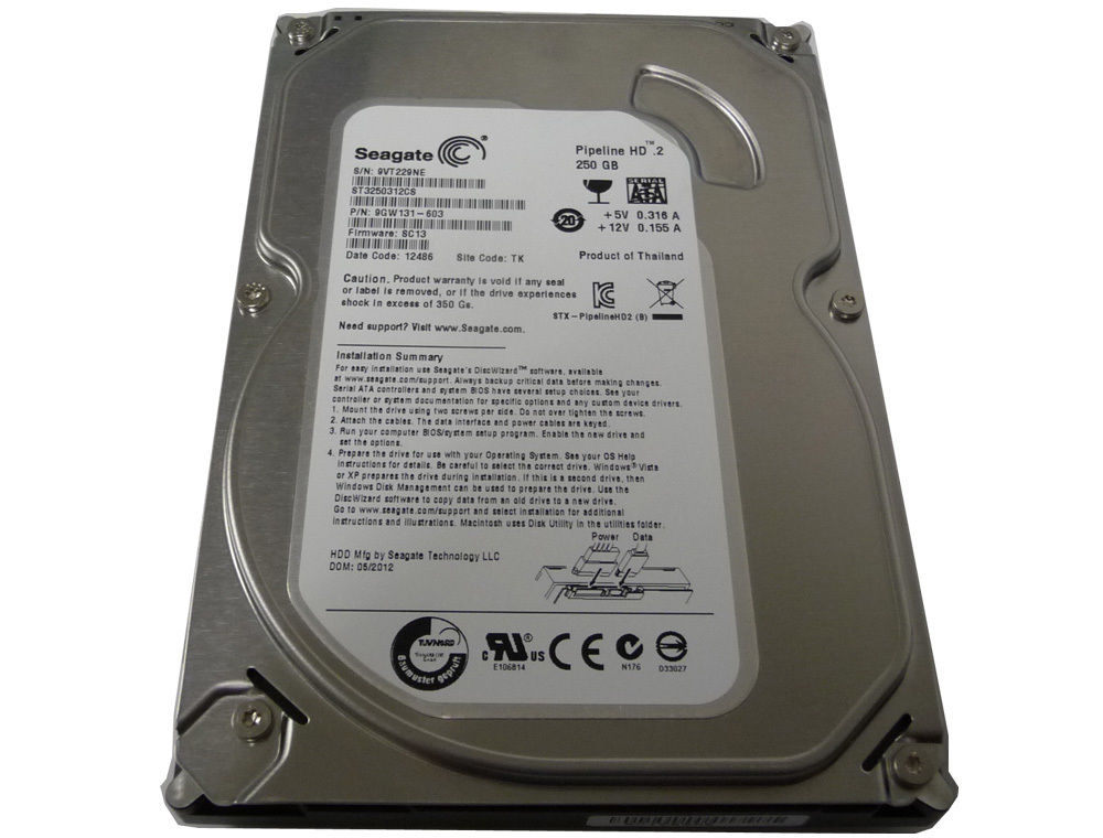 "Seagate ST3250312CS 250GB 8MB Cache 5900RPM SATA2 3.5"" Hard Drive"