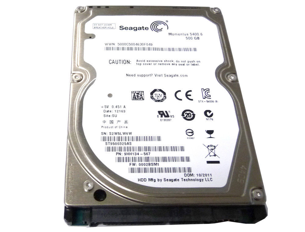 "Seagate Momentus 500GB 8MB Cache 5400RPM (ST9500325AS) 2.5"" SATA3Gb/s Hard Drive"