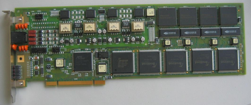 Brooktrout TR114+uP4L Fax/voice Fax Channel Board Pci Card 804-065-02