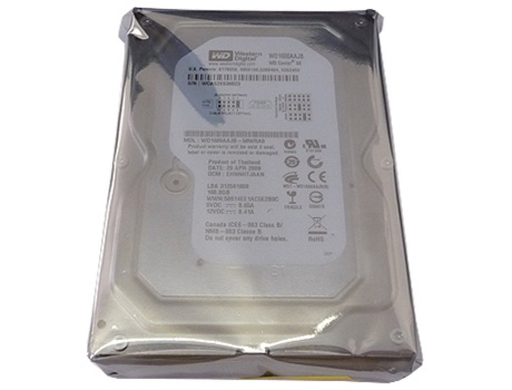 "Western Digital WD1600AAJB 160GB 8MB 7200RPM IDE (PATA) 3.5"" Desktop Hard Drive"
