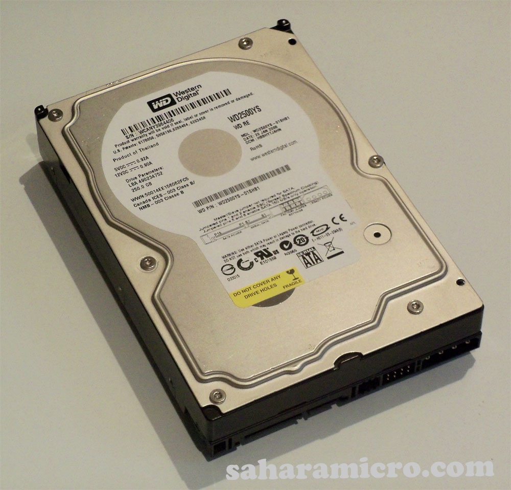 Western Digital Caviar RE WD2500YS 250GB 7200 RPM 16MB Cache SATA