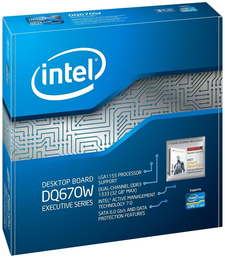 Intel BOXDQ67SWB3 DQ67SWB3 Desktop Board LGA1155, mATX, DDR3 New Retail Box