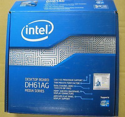 Intel DH61AG, LGA 1155/Socket H2 (BOXDH61AG) Motherboard Retail Box