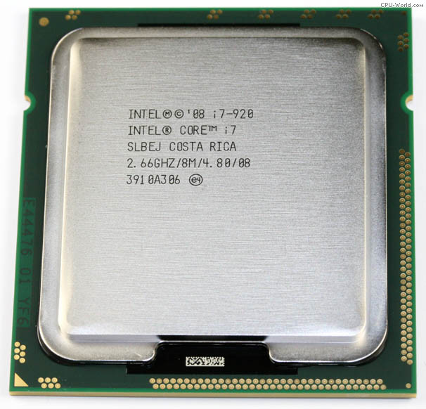 Intel BX80601920 SLBEJ Core i7-920 8M Cache, 2.66 GHz, 4.80 GT/s - Processor Only