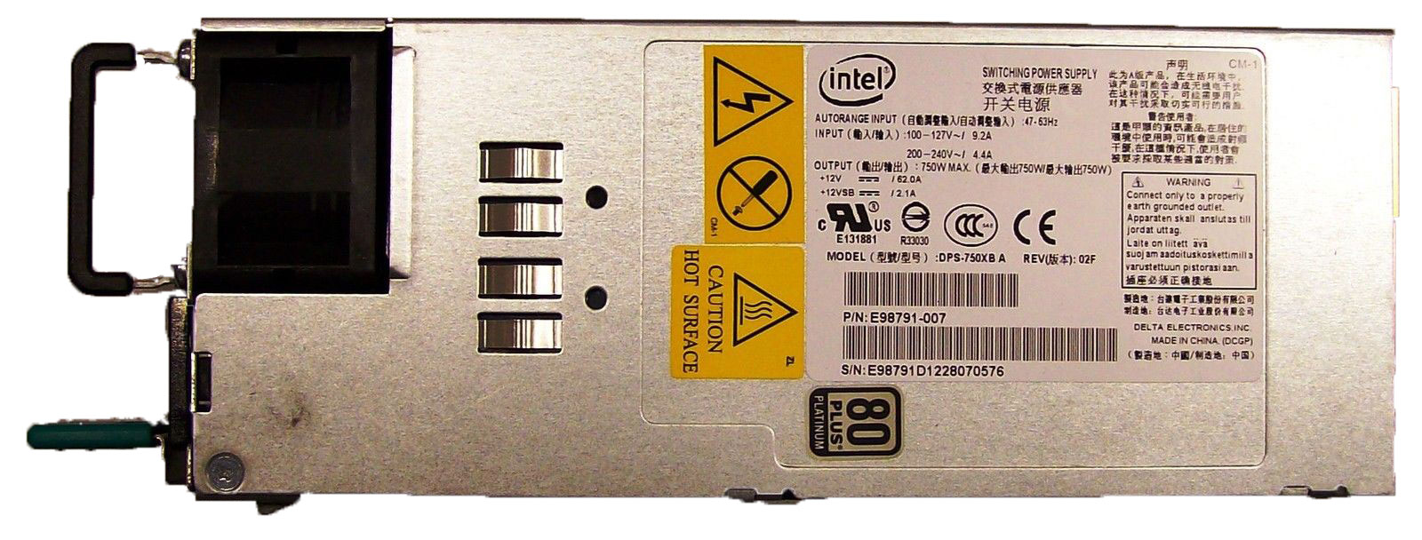 Intel DPS-750XB A 750 Watt Hot Swap Power Supply Module