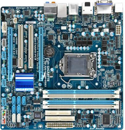 GIGABYTE GA-H55M-USB3 Socket 1156 Intel H55 CrossFireX A\u0026V\u0026GbE MATX