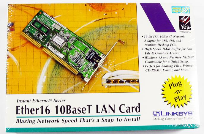 Linksys Ether16 10BaseT (LNE2000T) Network Adapter Lan Card