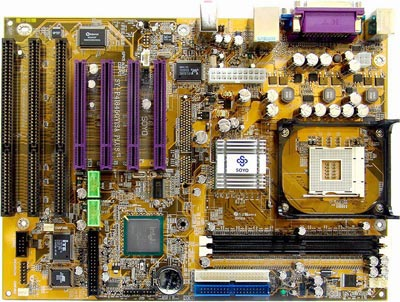 Soyo SY-P4I845GVISA Intel Socket 478 Pentium 4 Motherboard with 3 ISA slots, on-board audio, video and LAN