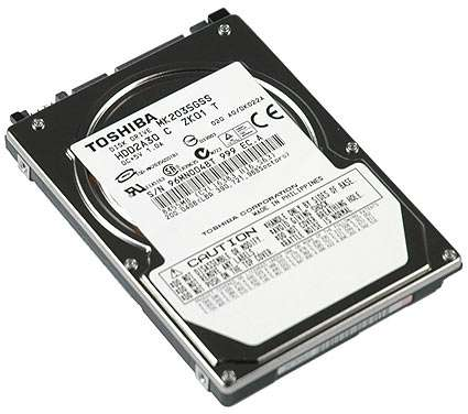 "TOSHIBA MK2035GSS 200GB 4200 RPM 8MB Cache 2.5"" SATA 1.5Gb/s Notebook Hard Drive"