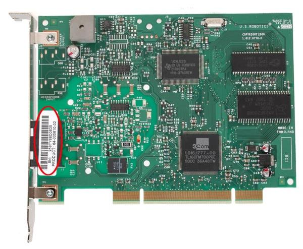 USRobotics USR5610B (0005610-02) 56K Performance Pro PCI Internal Modem