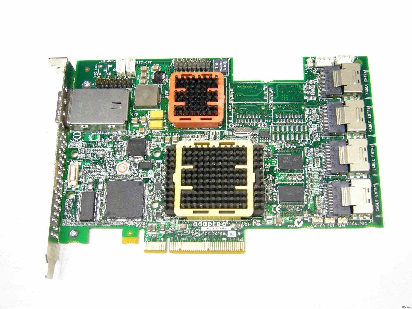 Adaptec 2258600-R 51645 RAID 16X4-Channel SATA/SAS 512MB PCI-Express Card with Cable