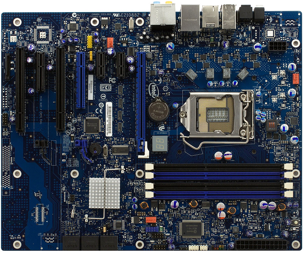 INTEL BLKDP55WG CHIPSET-INTEL P55 SKT-LGA1156 DDR3 SDRAM DUAL CHANNEL A/L ATX MOTHER BOARD