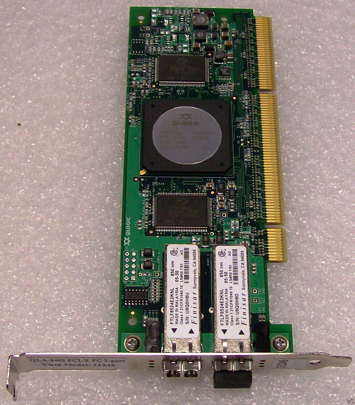 Qlogic QLA2462 SANBLADE 64-bit 266MHz PCI-X to 4Gb Dual Fibre Channel Adapter