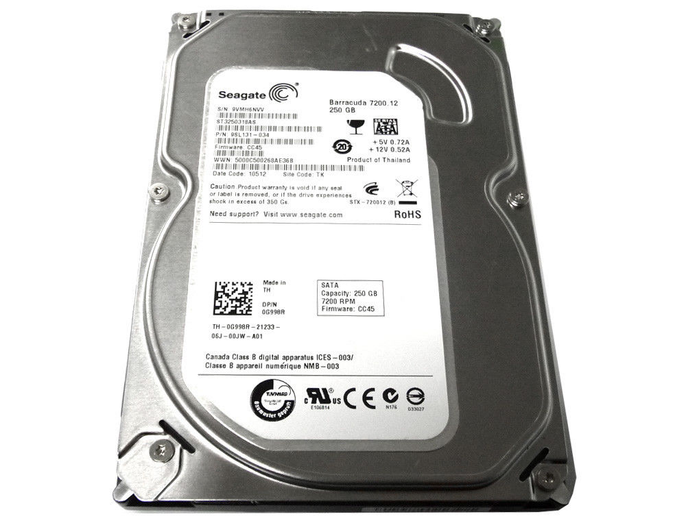 "Seagate 250GB 8MB 7200RPM 3.5"" SATA2 Hard Drive ST3250318AS"