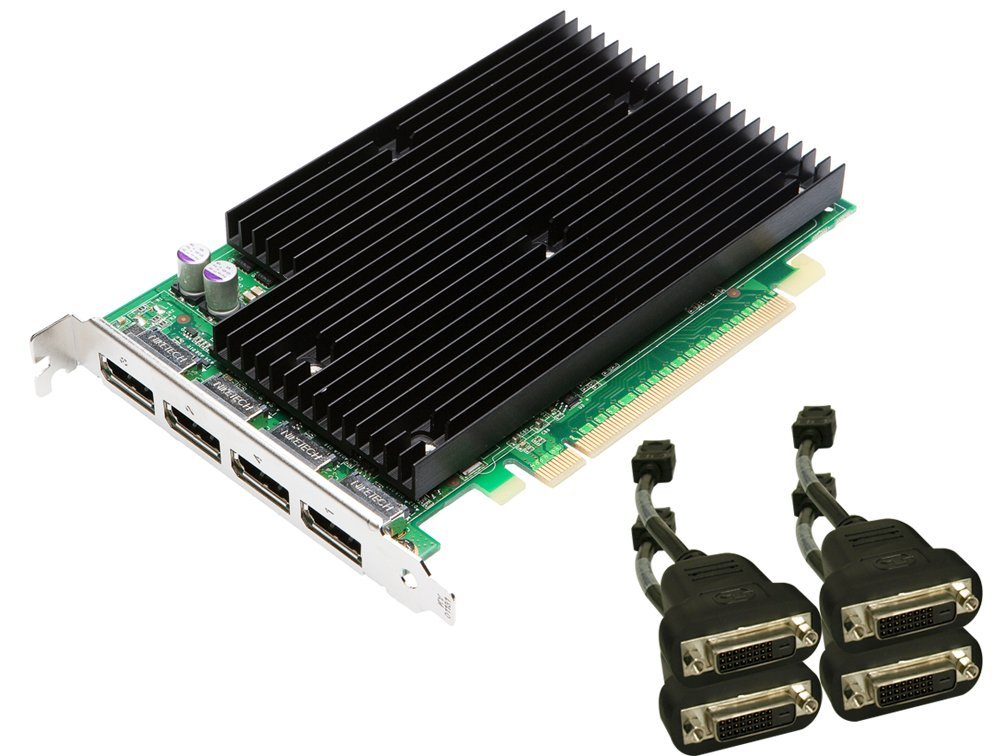 NVIDIA Quadro NVS 450 by PNY 512MB GDDR3 PCI Express Gen 2 x16 Quad DisplayPort or DVI-D SL Profesional Business Graphics Board, VCQ450NVS-X16-DVI-PB