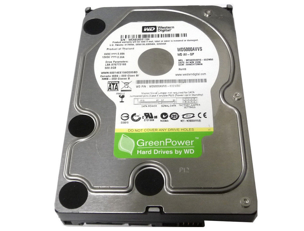 "Western Digital 500GB 3.5"" WD5000AVVS SATA3.0Gb/s Hard Drive"
