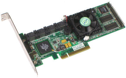 Areca ARC1220 PCIe 8-Port PCI Express x8 to SATA ll RAID Controller Card ARC-1220