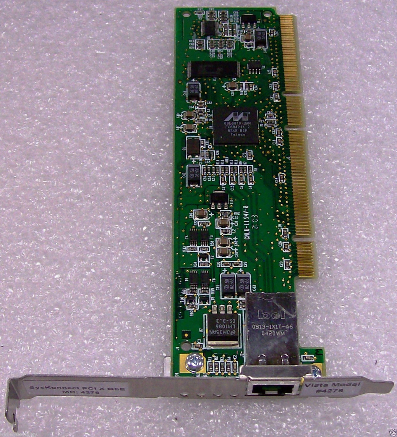 SysKonnect SK-9821 PCI 64bit 66Mhz 1Gbps RJ45 Gigabit Network Adapter